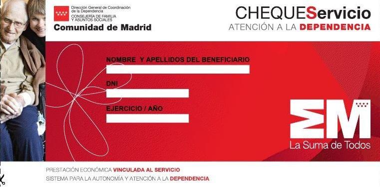 PEVS o cheque servicio de la Comunidad de Madrid