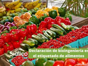 Declaración de bioingeniería en el etiquetado de alimentos.