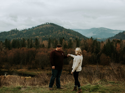 Engagement Session at Old Mission State Park in Cataldo Idaho