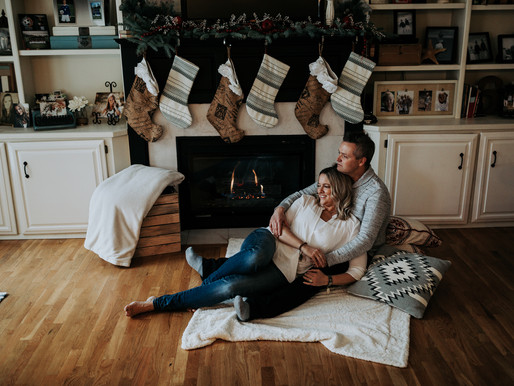 Indoor Christmas Couples Session in Coeur d'Alene, Idaho