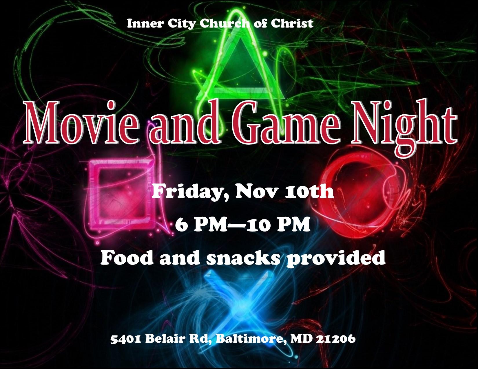 Game and Movie Night