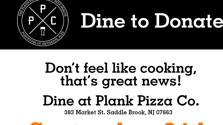 Plank Pizza Co. Dine to Donate