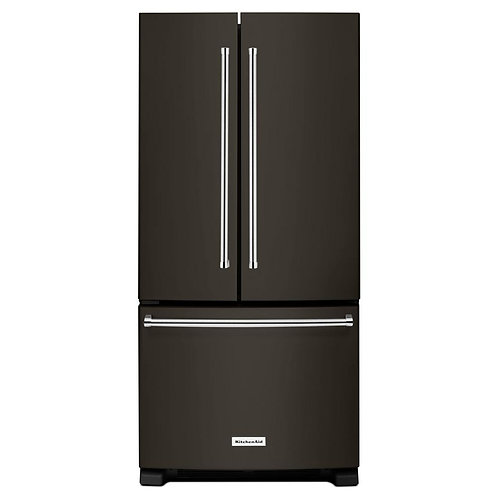 KitchenAid 33-inch Width Standard Depth French Door Refrigerator (KRFF302EBS)
