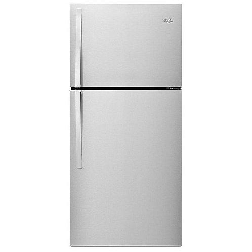 "Whirlpool 30"" Wide Top-Freezer Refrigerator (WRT549SZDM)"