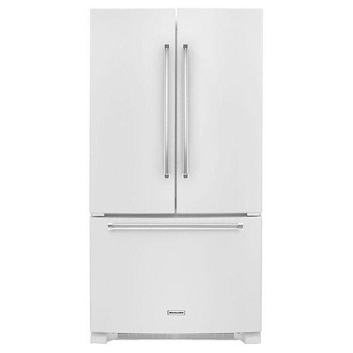 KitchenAid 25 Cu. Ft. 36-Width French Door Refrigerator (KRFF305EWH)