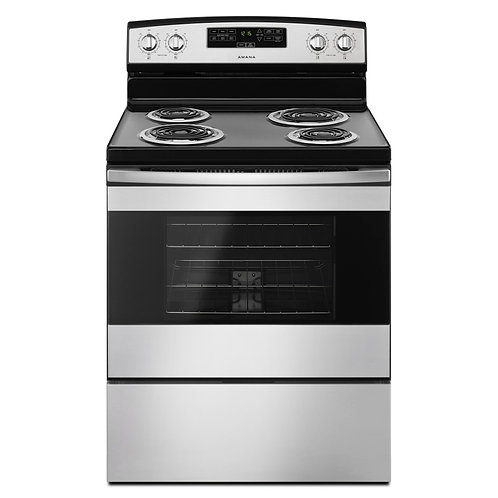 Amana 30-inch Electric Range with Bake Assist Temps (YACR4303MFS)