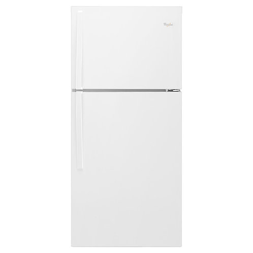 """Whirlpool 30"""" Wide Top-Freezer Refrigerator (WRT549SZDW)"""