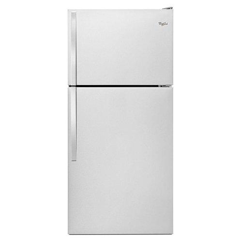 "Whirlpool 30"" Wide Top-Freezer Refrigerator with Flexi-Slide™ Bin (WRT318FZDM)"