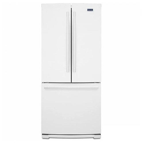 Maytag 19.6 Cu Ft French Door Refrigerator W/ Strongbox™ Door Bins (MFB2055FRW)