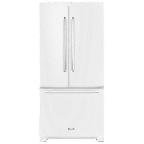 KitchenAid 33-inch Width Standard Depth French Door Refrigerator (KRFF302EWH)