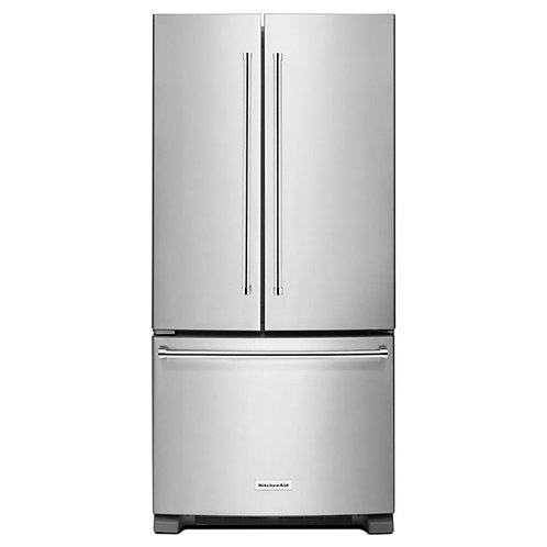 KitchenAid 33-inch Width Standard Depth French Door Refrigerator (KRFF302ESS)
