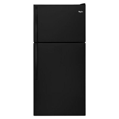 """Whirlpool 30"""" Wide Top-Freezer Refrigerator with Flexi-Slide™ Bin (WRT318FZDB)"""