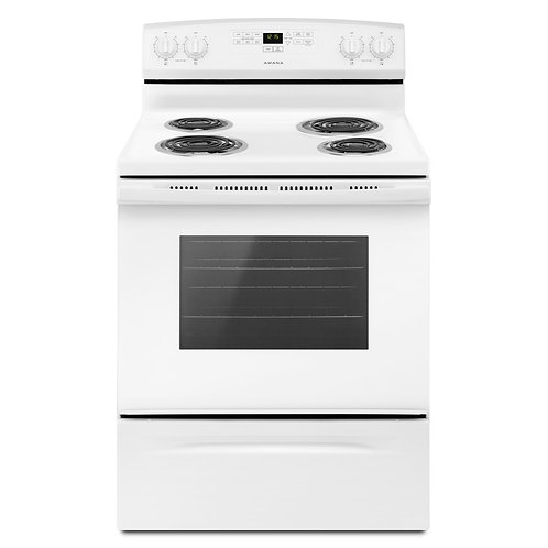 Amana 30-inch Electric Range with Bake Assist Temps (YACR4303MFW)