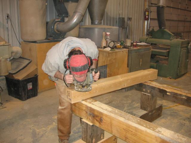 Chamfering Timbers