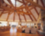 Doug Fir cathedral timber ceiling