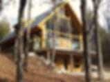 Custom timber ski chalet