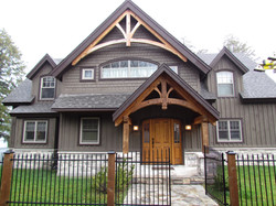 Curved Front Porch & Gable Detail