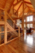 Timber staircase & Great Room