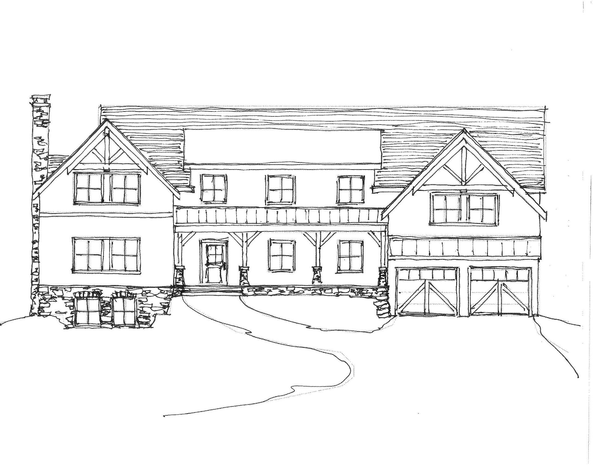 Hand Sketched elevation