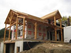 Timber Frame Deck & Entry