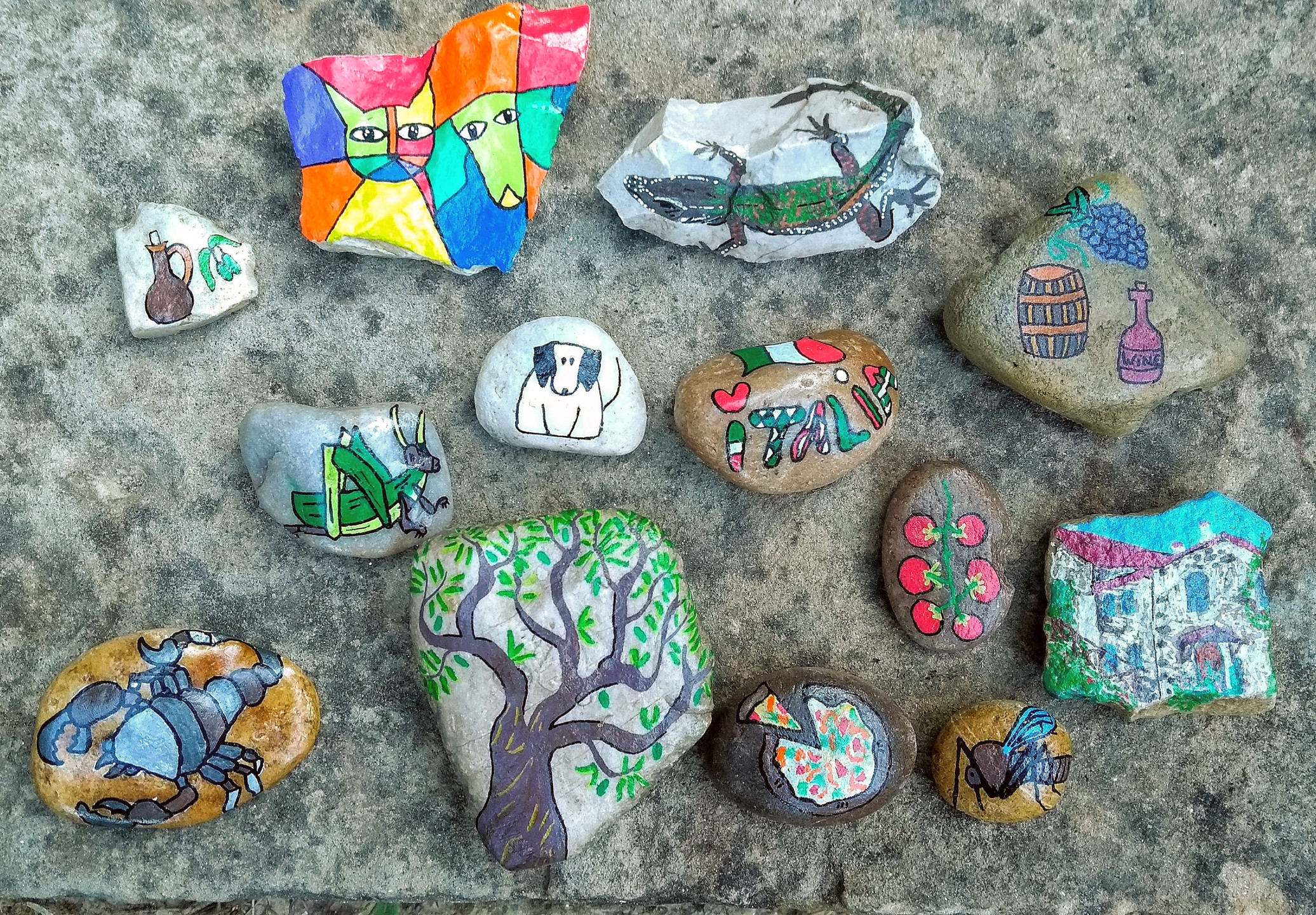 Hedy's lovely stone artwork