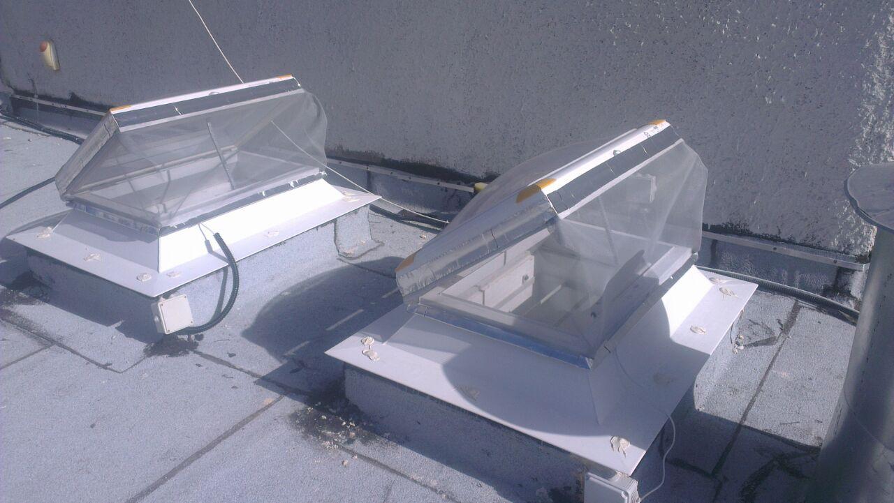 כיפת נפתחת חשמלי עם רשת נגד יתושים