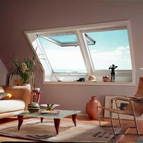 2 חלונות גג ציר כפול צמודים