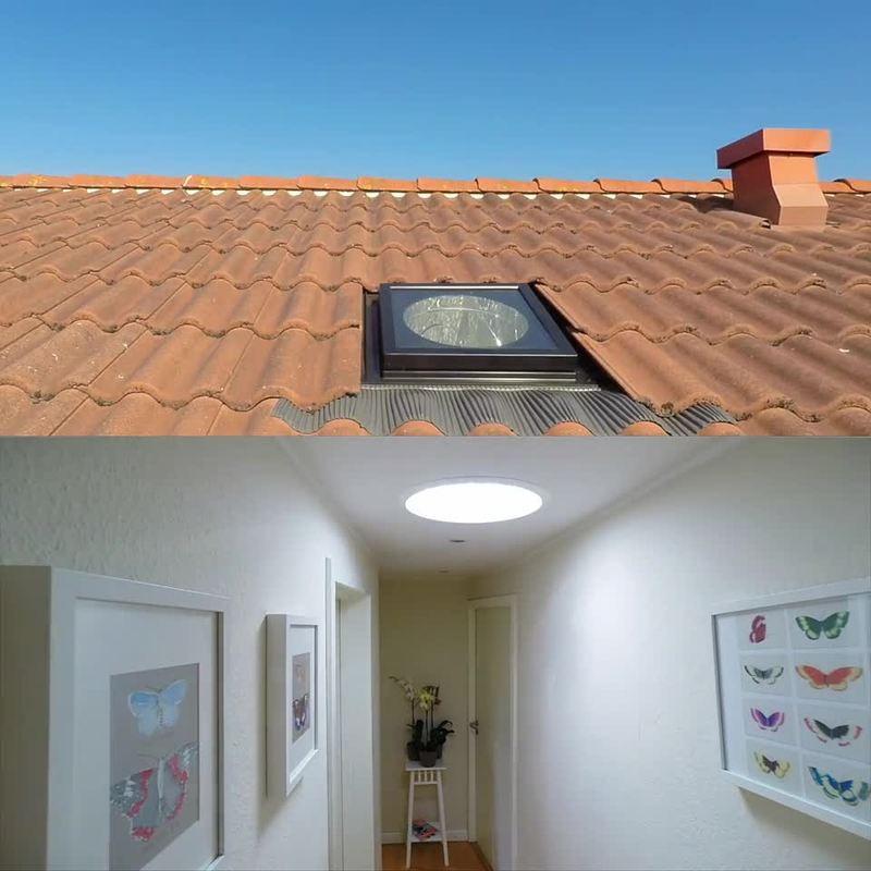 תעלת אור טבעי לגג רעפים