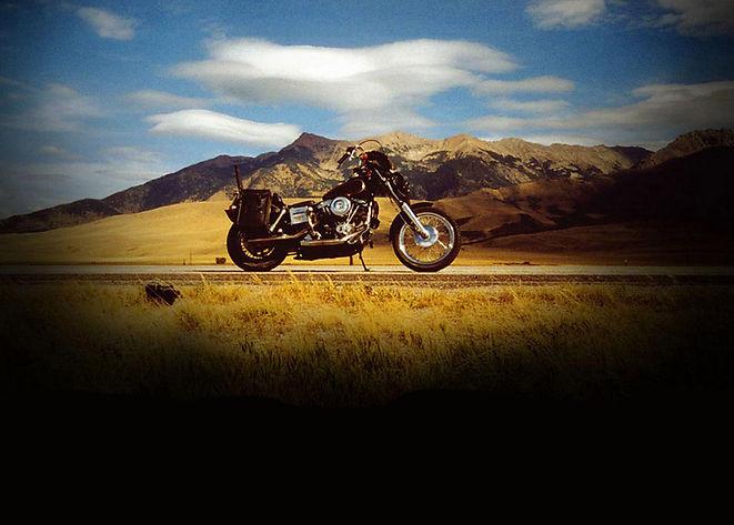 Shadowy Motorcycle Shot