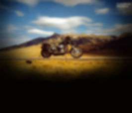 Shadowy Motorcycle Shot