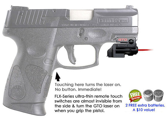 ArmaLaser GTO Red Laser Sight with Flex Touch Activation for Taurus Pistols