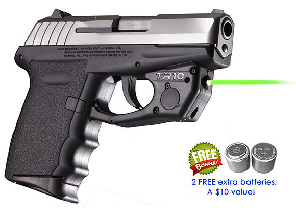 TR10-G Green Laser Sight for SCCY® CPX-1, CPX-2, CPX-3 w/ Grip Touch Activation