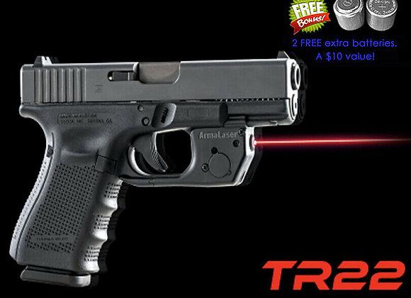 TR22 Red Laser Sight for Gen 3 & up GLOCK 17 19 22 23 31 32 34 35 37 & 38