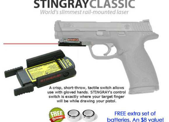 ArmaLaser Stingray RED LASER Sight for S&W M&P 4 / 4.1 / 4.25 / 4.5 / 5 / 22