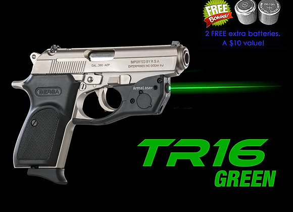 TR16-G Green Laser Sight for Bersa® Thunder 380, 22, CC, Combat, and Firestorm