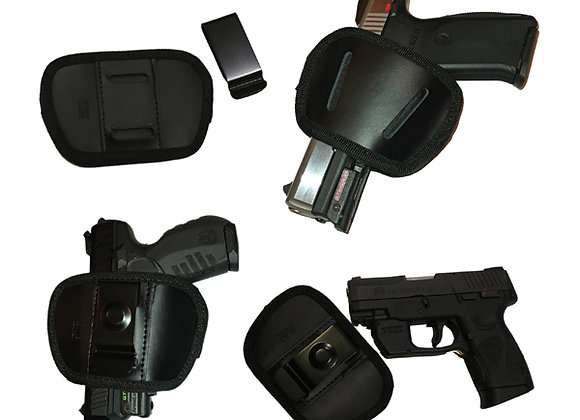 IWB Leather Pocket Holster with Belt Clip for Concealed Carry