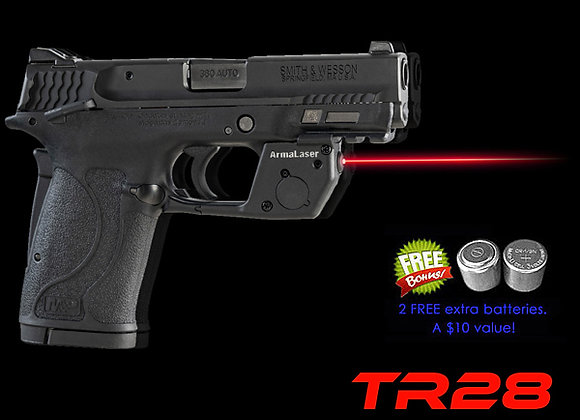 TR28 Red Laser for Smith-Wesson S&W M&P 380 EZ & 9mm Shield and M&P22 Compact