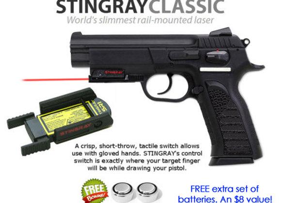 ArmaLaser Stingray RED LASER for EAA Witness Polymer 4.5 & EAA Guns w/ Rail