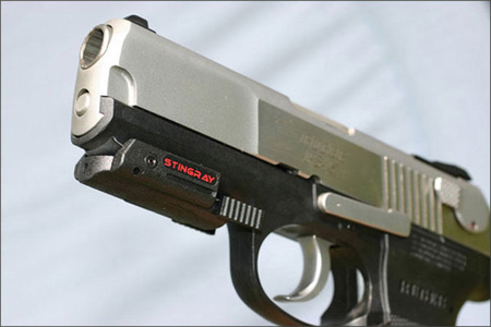 Laser Sights for mid-size to full-size pistols with rails