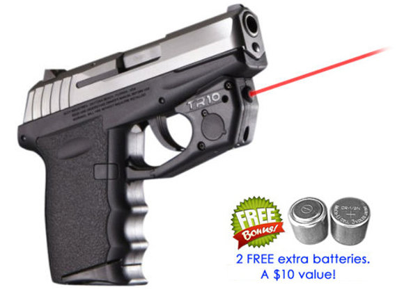 TR10 Red Laser Sight for SCCY® CPX-1, CPX-2, CPX-3 with Grip Touch Activation