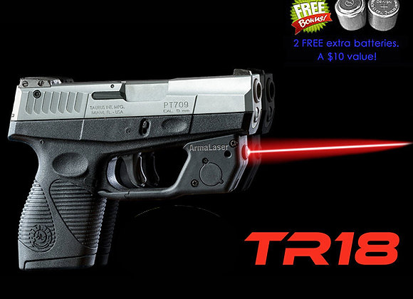 TR18 Red Laser Sight for Taurus® PT709 / PT740 Slim with Grip Touch Activation