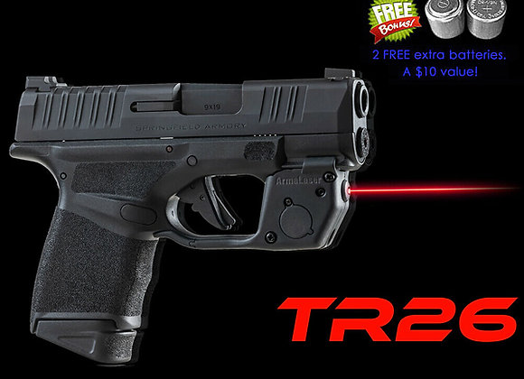 TR26 Red Laser Sight for Springfield Hellcat Guns w/ Touch Grip Activation