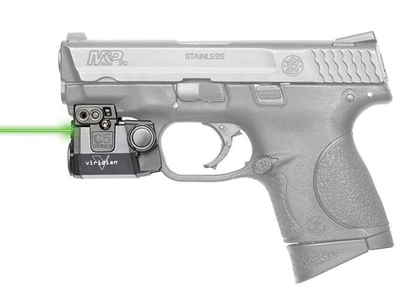 """Green Laser for Pistols with 1"""" Clearance on the Rail by Viridian"""