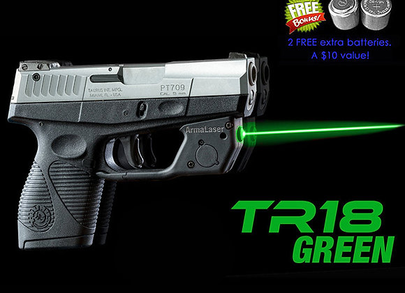 TR18-G Green Laser Sight for Taurus® PT709 / PT740 Slim with Grip Activation