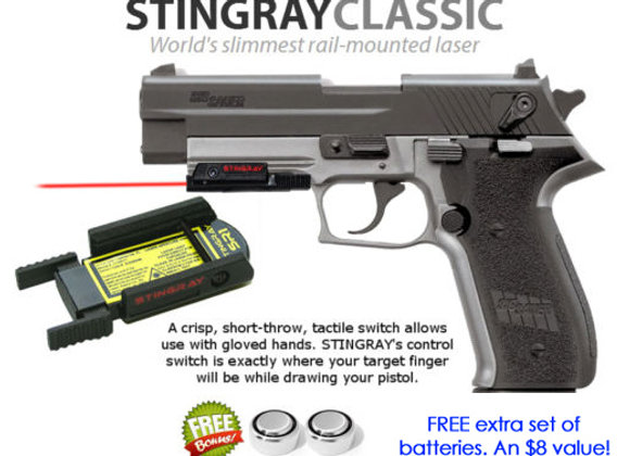 ArmaLaser Stingray Red Laser Sight for SIG Sauer P250 FS, P250c, SP2022 Mosquito