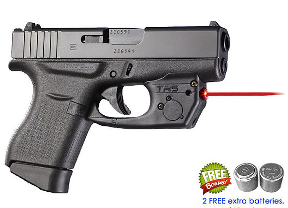 TR5 Red Laser Sight for Glock 42, 43, 43X (not MOS) 48 w/ Grip Touch Activation