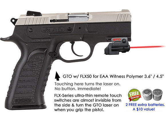 ArmaLaser GTO Red Laser Sight with Flex Touch Activation for EEA Witness Polymer