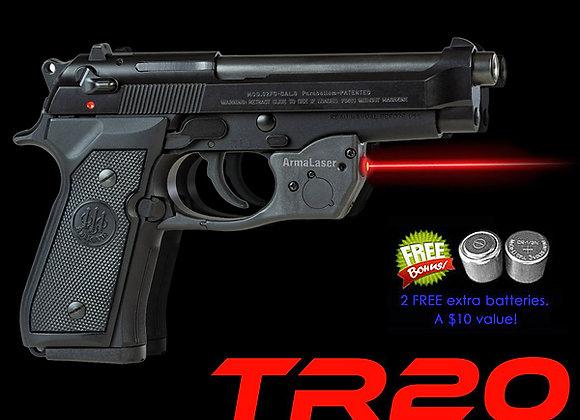 TR20 Red Laser Sight for Beretta® 92, 96, 92FS, 96FS, M9