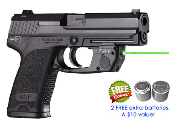 TR7-G Green Laser Sight for HK (H&K) USP Full Size with Grip Touch Activation