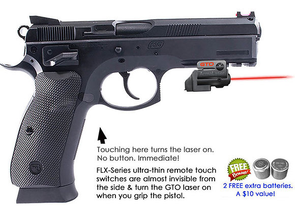 ArmaLaser GTO Red Laser Sight with Flex Touch Activation for CZ Pistols